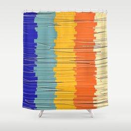 Shredded Stripes Shower Curtain