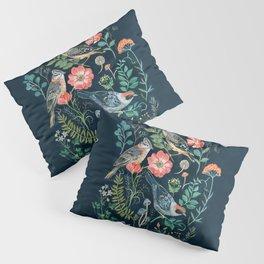 Birds Garden Pillow Sham