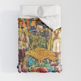 History of Mexico by Diego Rivera Comforters