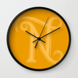 The Letter N Wall Clock