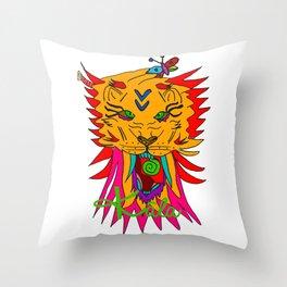 wizard lion Throw Pillow