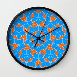 Penrose Tiling Pattern Wall Clock