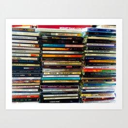 Music Cds Art Print