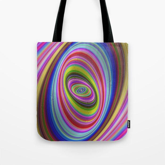 Colorful hypnosis Tote Bag