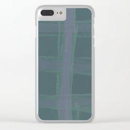 Sage & Tartan Clear iPhone Case