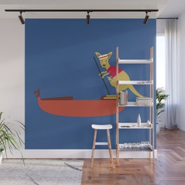 Kangaroo on Gondola Wall Mural