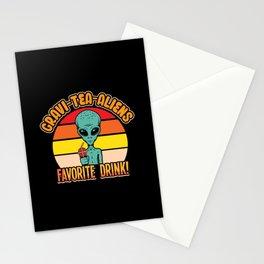 Gravi tea Aliens Favorite Drink funny shirt Stationery Cards