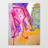amelie Canvas Prints featuring Amelie by Laurie Art Gallery