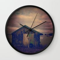 Twilight by the Sea Wall Clock