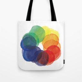 Watercolor Wheel Tote Bag