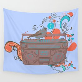 Retro Music Wall Tapestry
