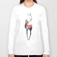 elk Long Sleeve T-shirts featuring Elk by Caylie Noelle