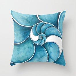 Nautilus Swirl Throw Pillow