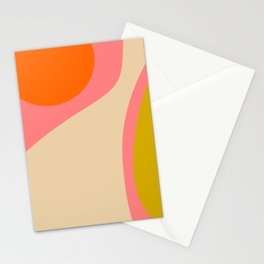 abstract composition modern blush pink Stationery Cards