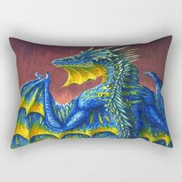 Horned Dragon Rectangular Pillow