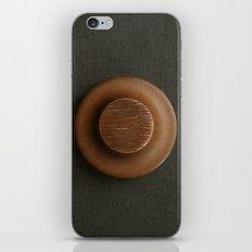 Brown Sculpture Button iPhone & iPod Skin