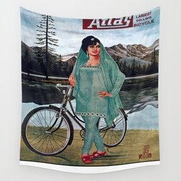 Vintage poster - Atlas Bicycle Wall Tapestry