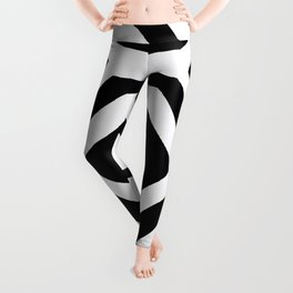 Black and White Geometric Leggings
