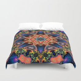 BBQSHOES: Kaleidoscopic Fractal Digital Art Design 1702K Duvet Cover