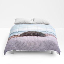 Lonely bush Comforters