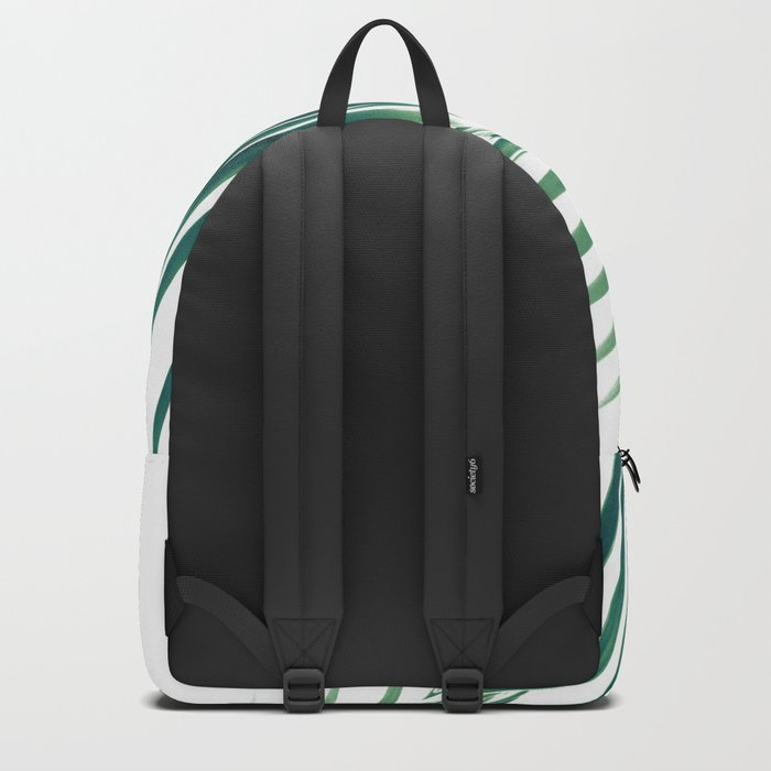 Palm Leaves Green Vibes #6 #tropical #decor #art #society6 Backpack