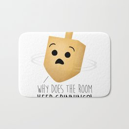 Why Does The Room Keep Spinning?! Bath Mat