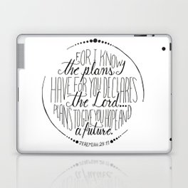Hand Written Typography of Jeremiah 29:11 Laptop & iPad Skin