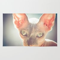 floyd Area & Throw Rugs featuring Floyd The Cat by Alex DZ