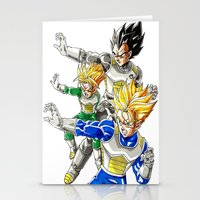 vegeta Stationery Cards featuring vegeta family tree by Unic art