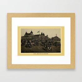 Coney Island - Hotel Brighton & Concourse  Framed Art Print