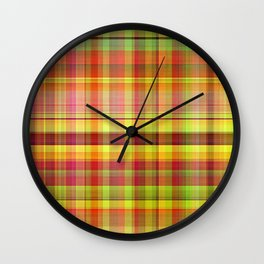 Rainbow Sarong 1 Wall Clock