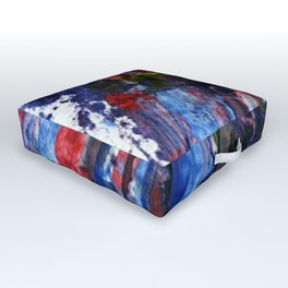 Cap vs Thanos color abstract Outdoor Floor Cushion