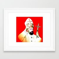 chad wys Framed Art Prints featuring pope chad by Chad M. White