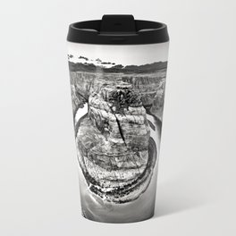 Horseshoe Bend Arizona Black and White Travel Mug