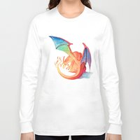 charizard Long Sleeve T-shirts featuring Charizard by Natalie Huber