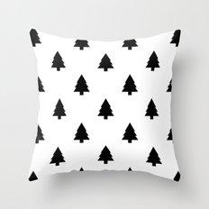 (Christmas) Tree B&W Throw Pillow