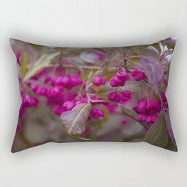 Fruits of Autumn in bold pink Rectangular Pillow