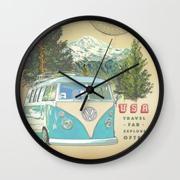 """""""Not all who wonder, are lost"""" vintage inspired print Wall Clock"""