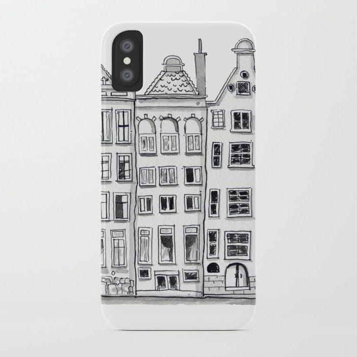 Amsterdam C Houses Sketch Iphone Case