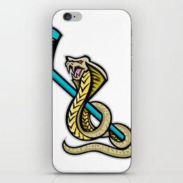 King Cobra Ice Hockey Sports Mascot iPhone Skin