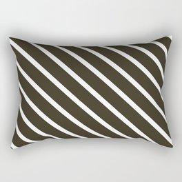 Molasses Diagonal Stripes Rectangular Pillow