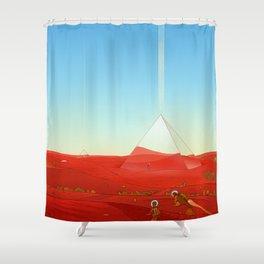 Mirror Pyramids Shower Curtain