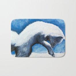 Animal - Antoine the Artic Fox - by LiliFlore Bath Mat