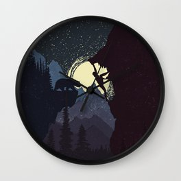 Not Alone Wall Clock