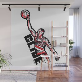 Clyde the Glide Wall Mural