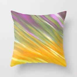 Golden Aurora Throw Pillow