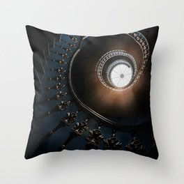 Mysterious spiral staircase Throw Pillow