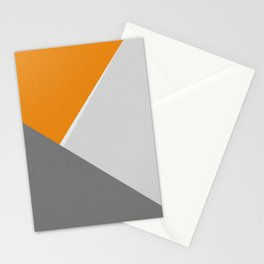 Orange And Gray Stationery Cards