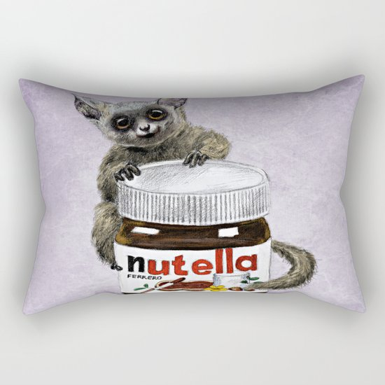 Sweet aim // galago and nutella Rectangular Pillow