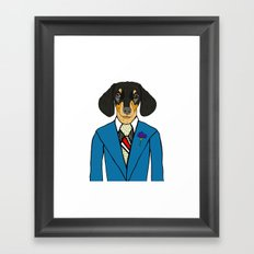 Dachshund in Suit Framed Art Print
